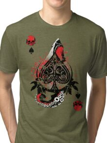 Blackout Poker-Shark Bait Distressed Tri-blend T-Shirt