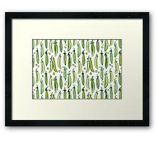 Watercolor Green pea Framed Print