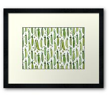 Watercolor Green pea Framed Print