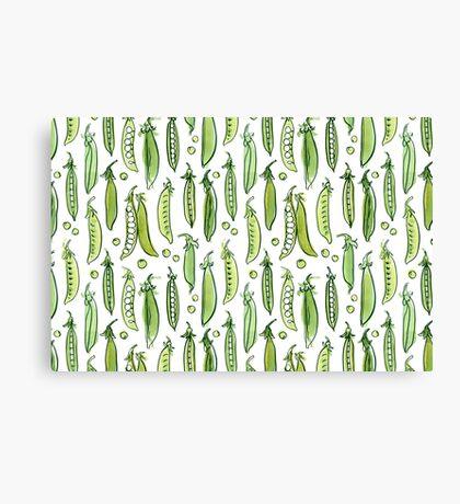 Watercolor Green pea Canvas Print