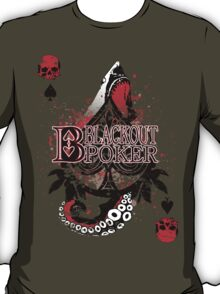 Blackout Poker-Shark Bait Distressed with clean LOGO T-Shirt