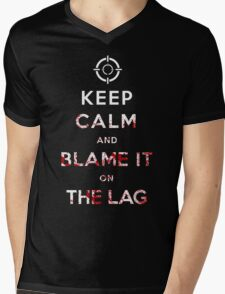 Keep Calm and Blame it On The Lag  Mens V-Neck T-Shirt