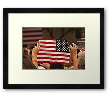 Backwards Patriotism Framed Print