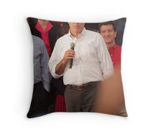 Mitt Romney Abashed Throw Pillow