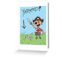 Pirate Lawn Greeting Card