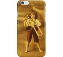 Vintage Child with Horn iPHONE Case iPhone Case/Skin