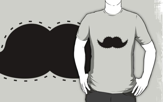 Cutout Moustache by tjhiphop