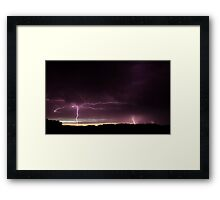 Beaming Down Framed Print