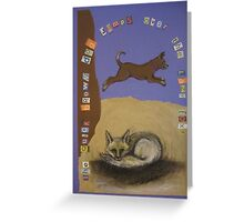 Quick Brown Dog Greeting Card