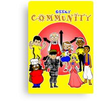 geeky community  Canvas Print
