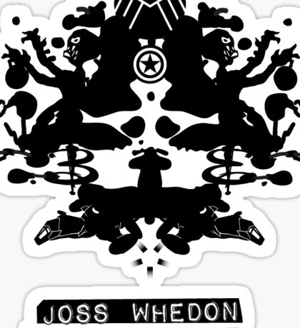 """Joss Whedon Is My Shrink"" - Dark Sticker"