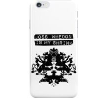 """Joss Whedon Is My Shrink"" - Dark iPhone Case/Skin"