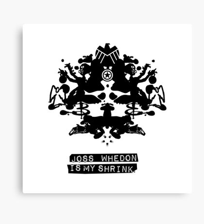 """Joss Whedon Is My Shrink"" - Dark Canvas Print"