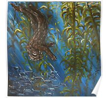 Otter in a Kelp Forest Poster