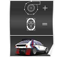 Forced Induction Equation 2 (White) Poster
