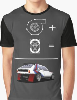 Forced Induction Equation 2 (White) Graphic T-Shirt