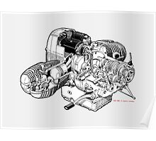 BMW Boxer Engine R Series Poster