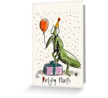 Partying Mantis Greeting Card