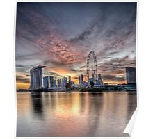 vertical sunset in singapore Poster