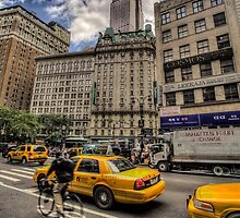 Empire state and cyclist by paulcowell
