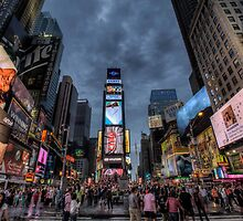 Times square night scene by paulcowell