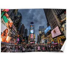 Times square night scene Poster