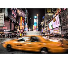 Taxi in times square Photographic Print