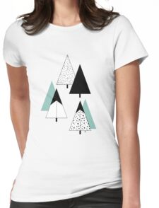 Pine Trees Womens Fitted T-Shirt