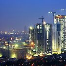 Kota Kasablanka (under construction, at dusk) by Property & Construction Photography