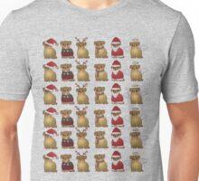 Christmassy pugs Unisex T-Shirt