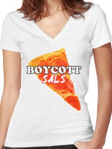 Boycott Sal's Women's Fitted V-Neck T-Shirt