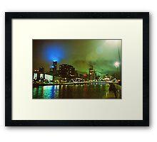 Strange Night Sky Framed Print