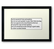 Mice Spiders Framed Print