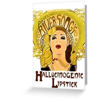 """Professor River Song's Hallucinogenic Lipstick"" Greeting Card"