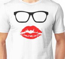 Nerd Glasses and Kiss Unisex T-Shirt
