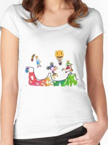 Percentum Xtreme Sports (colour) Women's Fitted Scoop T-Shirt