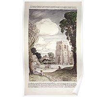 English village scene 590 Poster