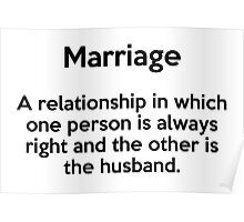 Marriage defined Poster