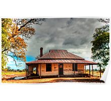 Old Australian rural House in HDR Poster