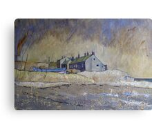 Cottages at Boulmer, Northumberland Canvas Print