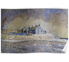 Cottages at Boulmer, Northumberland Poster