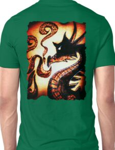 Flames and Thunder Dragon Unisex T-Shirt