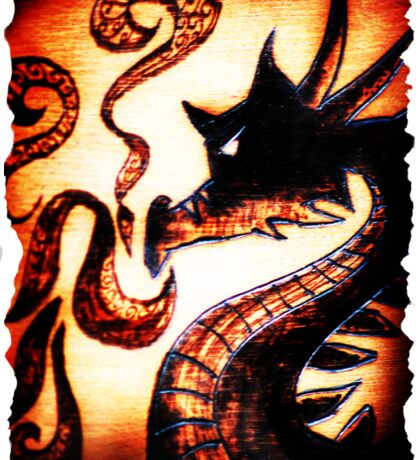 Flames and Thunder Dragon Sticker