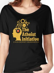 The Atheist Initiative Logo - Red Button Women's Relaxed Fit T-Shirt