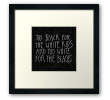Chum Lyrics Framed Print