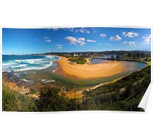 Narrabeen Beach and Lake Panorama Poster