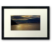 Evening on the Coast Framed Print