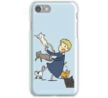 John and cats because I can't find a better title iPhone Case/Skin