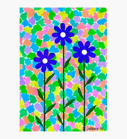 FLOWERS - AQUAREL AND GOUACHE Photographic Print