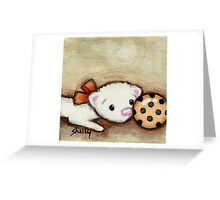 Ferret Ball Greeting Card